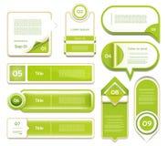 现代infographics选择横幅。传染媒介illustr 免版税库存照片