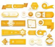 现代infographics选择横幅 也corel凹道例证向量 能为工作流布局,图,数字选择,网络设计使用 免版税库存图片