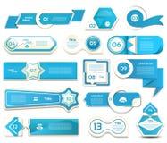 现代infographics选择横幅 也corel凹道例证向量 能为工作流布局,图,数字选择,网络设计, pri使用 免版税库存图片