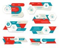 现代infographics选择横幅 也corel凹道例证向量 能为工作流布局,图,数字选择,网络设计, pri使用 免版税库存照片