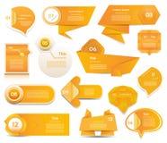 现代infographics选择横幅 免版税库存照片