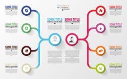 现代infographics 经营计划设计模板 向量 免版税图库摄影