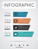 现代infographics 库存图片