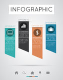 现代infographics 图库摄影