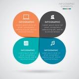 现代infographics 库存照片