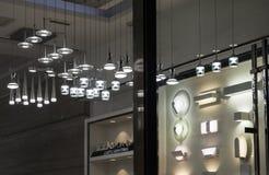 现代LED水晶枝形吊灯带领了壁灯,商业照明设备家具照明设备 库存图片