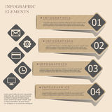 现代origami样式infographic横幅 免版税库存照片