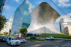 现代Soumaya艺术馆在墨西哥城 库存照片