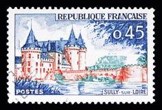 玷污苏尔卢瓦尔河,旅游业serie,大约1961年 免版税库存照片