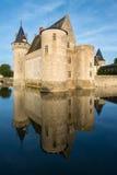 玷污苏尔卢瓦尔河,法国大别墅  库存图片