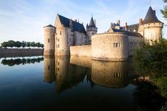 玷污苏尔卢瓦尔河,法国大别墅  免版税库存图片