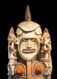 玻利尼西亚雕象 库存照片
