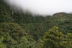 玻利维亚北部路yungas 库存照片