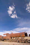 玻利维亚墓地培训uyuni 库存图片