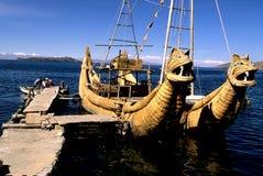 玻利维亚湖titicaca 库存照片