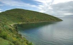玻利维亚湖titicaca 免版税库存图片