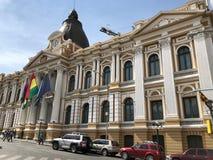 玻利维亚的全国代表大会广场的Murillo在拉巴斯,玻利维亚 图库摄影