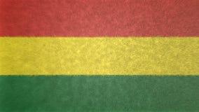 玻利维亚的旗子的原始的3D图象 向量例证