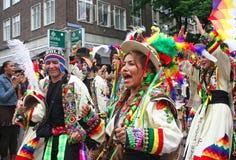玻利维亚的狂欢节舞蹈演员 免版税图库摄影