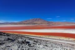 玻利维亚科罗拉多拉古纳 库存图片