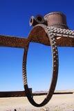 玻利维亚老撒拉尔培训uyuni 免版税库存照片