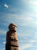 玻利维亚雕象tiwanaku 免版税库存图片