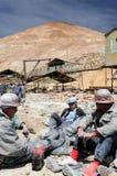 玻利维亚,从南美的矿工在工作在矿 免版税库存图片