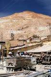 玻利维亚,从南美的矿工在工作在矿 库存图片