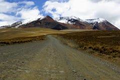 玻利维亚chacaltaya拉巴斯路 库存照片
