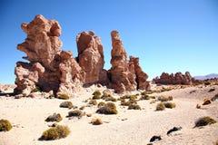 玻利维亚沙漠岩石 免版税图库摄影