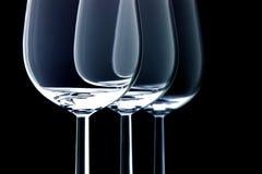玻璃三酒 免版税图库摄影
