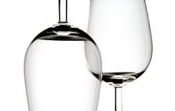 玻璃二酒 免版税库存图片