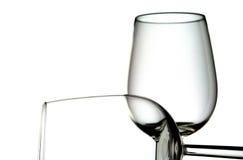玻璃二酒 免版税库存照片