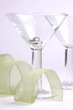 玻璃二酒 库存照片