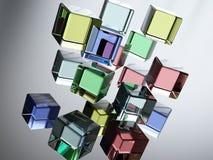 玻璃五颜六色 库存照片