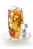 玻璃冰了茶 免版税库存照片