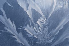 玻璃冰冷的om仿造 图库摄影