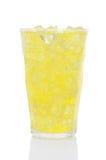 玻璃冰柠檬石灰碳酸钠 库存图片