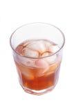 玻璃冰misted在威士忌酒 图库摄影