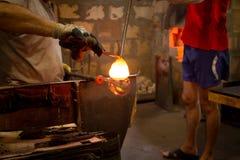 玻璃制造业制造过程 库存照片