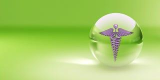 玻璃医学范围符号 皇族释放例证