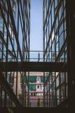玻璃和砖 免版税库存图片