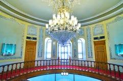 玻璃和陶瓷博物馆圆的走廊在德黑兰,伊朗 库存图片