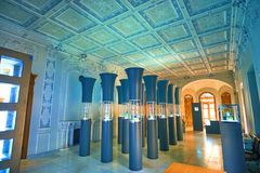 玻璃和陶瓷博物馆的Balour霍尔在德黑兰,伊朗 免版税库存照片