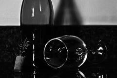 玻璃喜怒无常的酒 免版税图库摄影