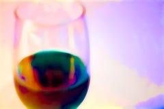 玻璃喜怒无常的酒 库存图片