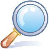 玻璃图标扩大化的向量 免版税图库摄影