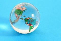 玻璃地球映射政治世界 库存图片