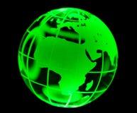 玻璃地球绿色 免版税库存照片