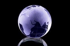 玻璃地球 库存图片